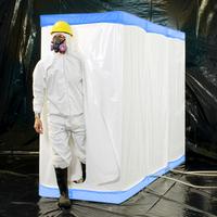"D-Con Blue - 77"" Fire Retardant Disposable Decontamination Shower & Airlock Enclosure"