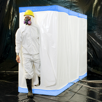 "D-Con Blue - 77"" Fire Retardant Disposable Decontamination Shower & Airlock Enclosure"