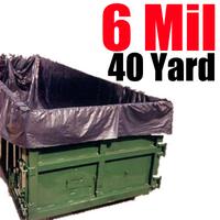 6 Mil 40 Yard Dumpster Liner
