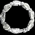 Flip Flop Link Bracelet in Sterling Silver
