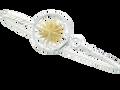 2 Tone Compass Bracelet w/gold vermeil