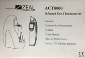 Zeal ACT8000 Infrared Ear Thermometer