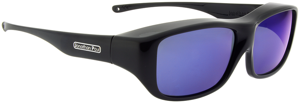 f90e73b943 Jonathan Paul® Fitovers Eyewear Large Quamby in Eternal Black   Blue Mirror  QL001BM. Image 1. Loading zoom