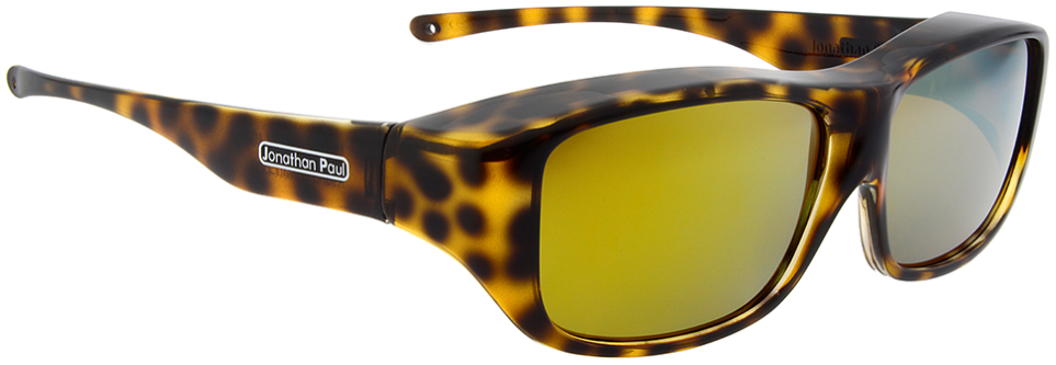 64ce087db0 Jonathan Paul® Fitovers Eyewear Large Quamby in Cheetah   Gold Mirror  QL003YM. Image 1. Loading zoom