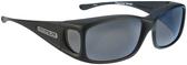 Jonathan Paul® Fitovers Eyewear Small Razor in Matte-Black & Gray RZ001