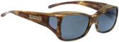 Jonathan Paul® Fitovers Eyewear Medium Dahlia in Tiger-Eye & Gray DL003