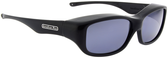 Jonathan Paul® Fitovers Eyewear Medium Queeda in Eternal-Black & Gray QS001