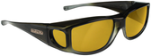 Jonathan Paul® Fitovers Eyewear Large Jett in Olive-Charcoal & Yellow JT005Y