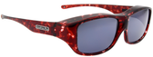Jonathan Paul® Fitovers Eyewear Large Quamby in Claret-Tortoise & Gray QL004