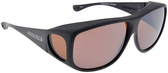 Jonathan Paul® Fitovers Eyewear X-Large Aviator in Matte-Black & Amber AV001A