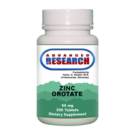 Nutrient Carriers Advanced Research Zinc Orotate - 60 mg - 200 Tablets