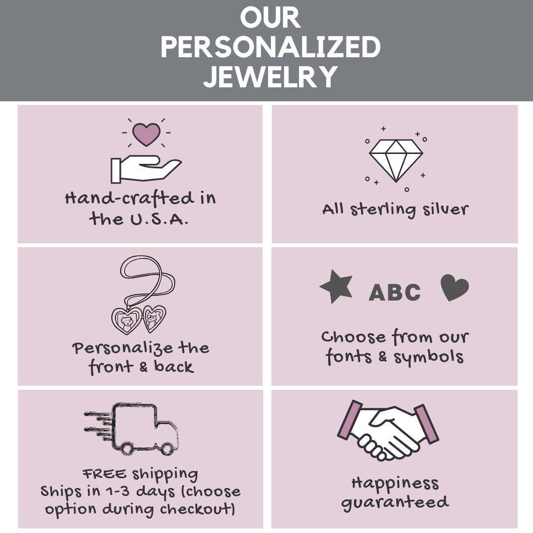 Hand stamped jewelry info