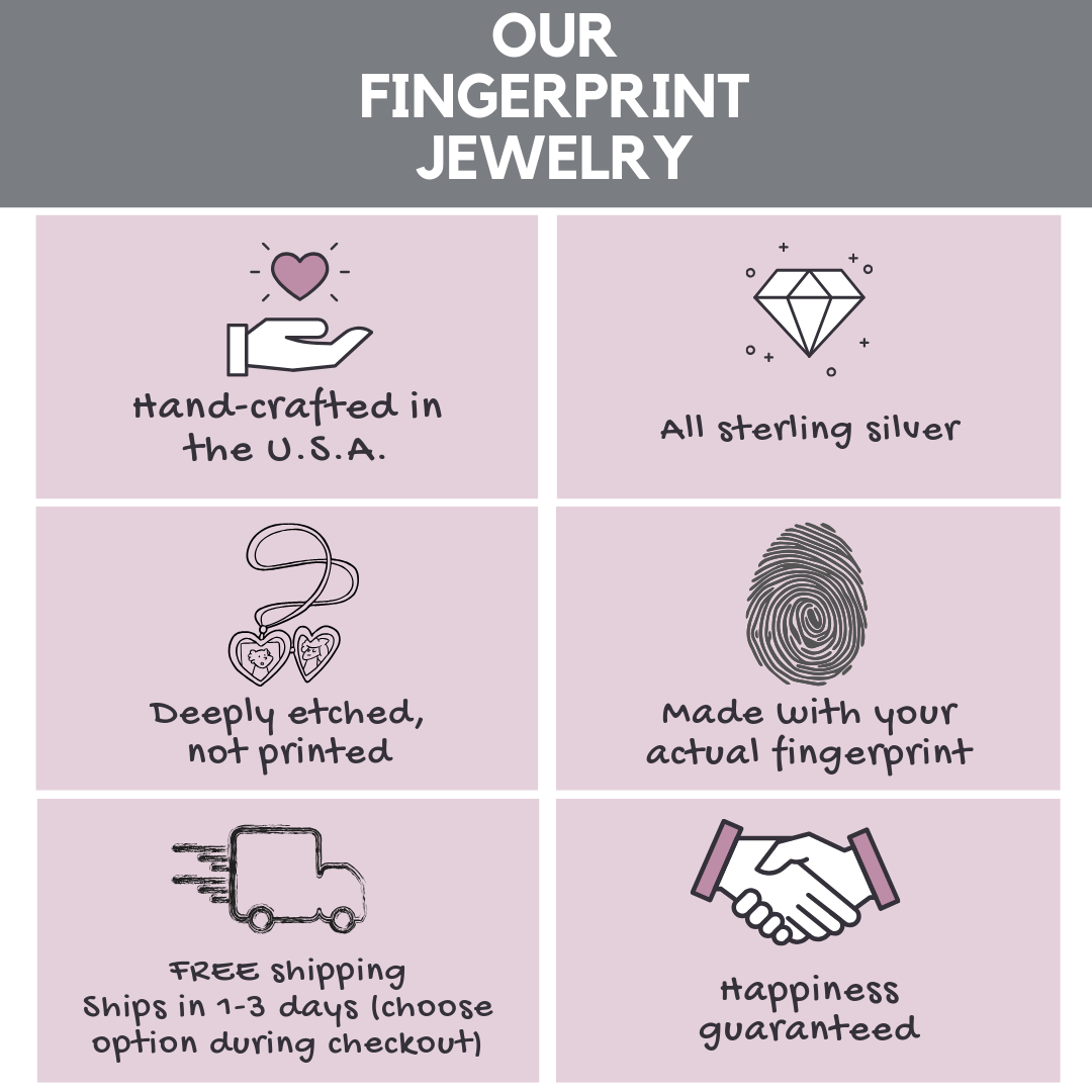 Fingerprint jewelry information