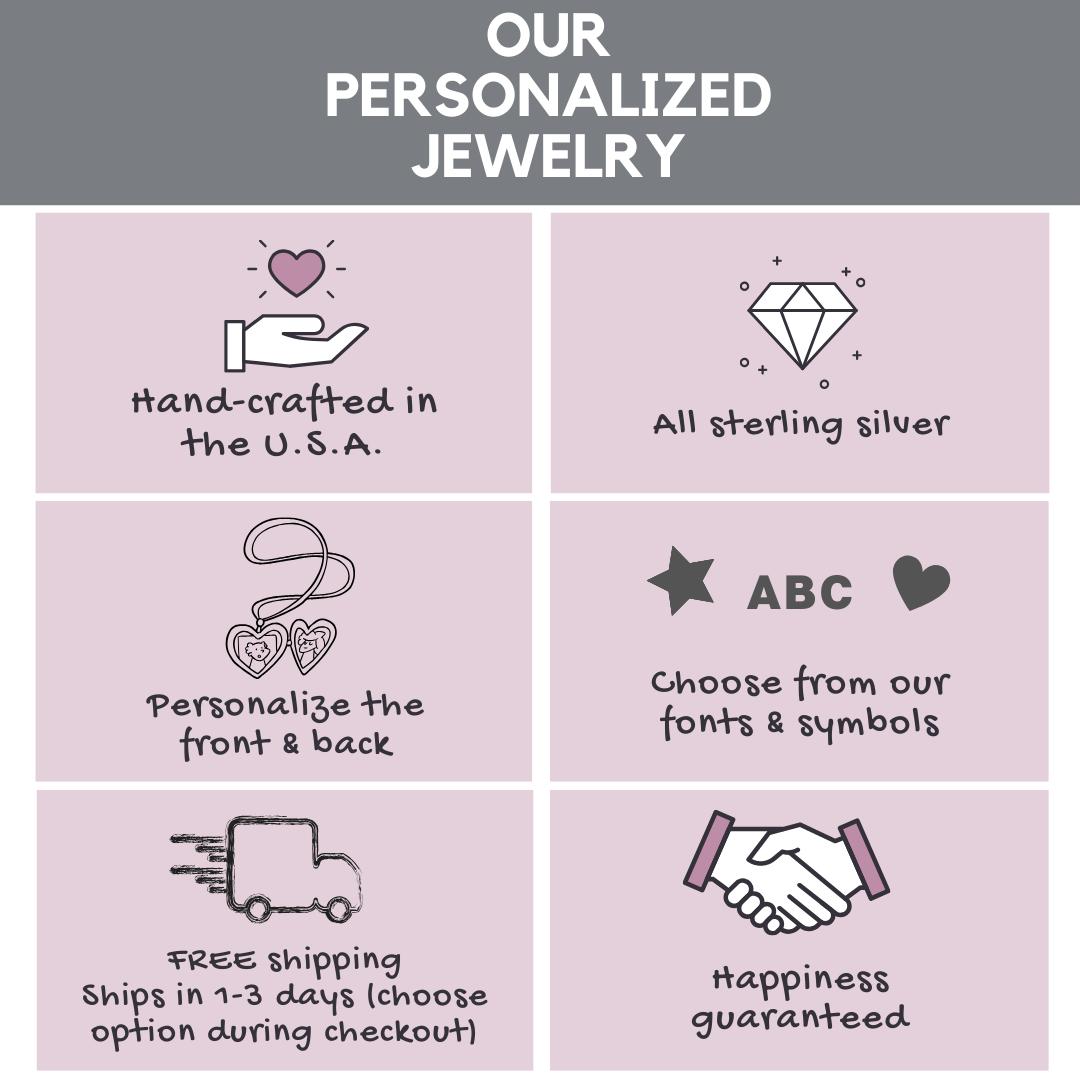 Hand stamped jewelry information