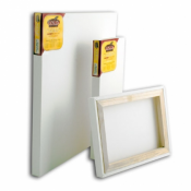"""Loxley Gold Chunky Stretched Canvas 60 x 16"""", Pack of 2"""