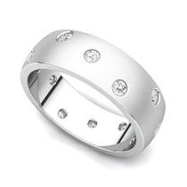 Bezel set Diamond Semi Eternity Ring (1/3 ct.)