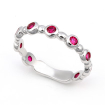 Bezel set Ruby Bubble Ring