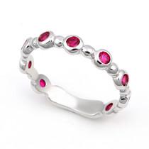 Bezel set Ruby Bubble Ring