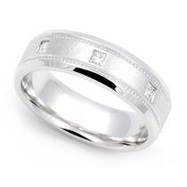 Bezel set Diamond Milgrain Ring