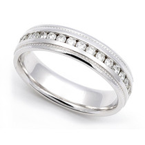 Channel set Diamond Eternity Milgrain Wedding Ring (3/5 ct.)