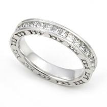 Channel set Diamond Eternity Bubble Edge Milgrain Ring (1 3/5 ct.)