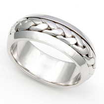 Braided Wedding Ring 6.5mm