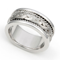 Triple Braided Wedding Ring 8.5mm