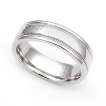 Milgrain Wedding Ring 6mm