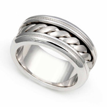 Braided Milgrain Wedding Ring 9.5mm