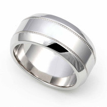 Milgrain Wedding Ring 9mm