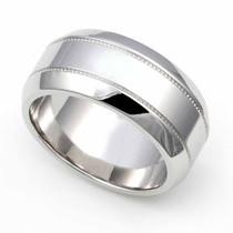 Milgrain Wedding Ring 9mm