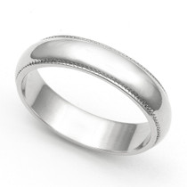 Milgrain Wedding Ring 4.5mm
