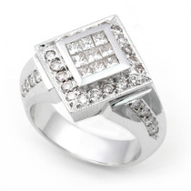 Invisible and Pave' set Diamond Ring (1 1/6 ct.)