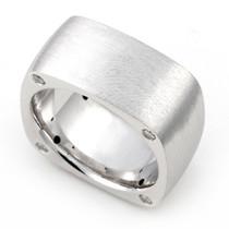 Bezel set Diamond Semi Eternity Ring (1/4 ct.)