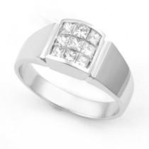 Invisible set Diamond Fashion Ring (1/2 ct.)