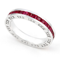 Channel set Ruby Eternity Ring