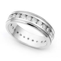 Channel set Diamond Eternity Milgrain Ring (1 3/5 ct.)