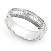 Bezel set Diamond Arrow Design Semi Eternity Ring (1/5 ct.)