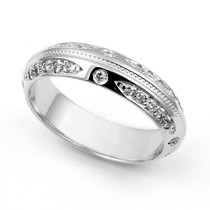Channel set Diamond Eternity Milgrain Ring (2/5 ct.)