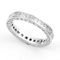 Channel set Diamond Heart Edge Eternity Ring (1 1/2 ct.)