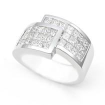 Invisible set Diamond Half Eternity Ring (2 1/7 ct.)