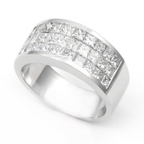 Invisible set Diamond Half Eternity Ring (2 ct.)