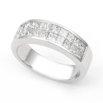 Invisible set Diamond Half Eternity Ring (1 1/5 ct.)