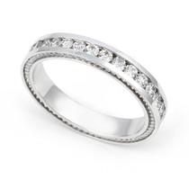 Channel set Diamond Cords Edge Eternity Ring (1 ct.)