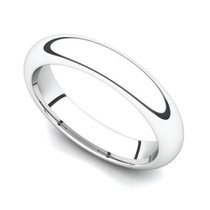 Domed Wedding Ring 4mm