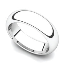 Domed Wedding Ring 6mm