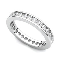 Channel Set Diamond Curved Edge Eternity Ring (1 ct.)