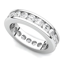 Channel Set Diamond Curved Edge Eternity Ring (2 ct.)