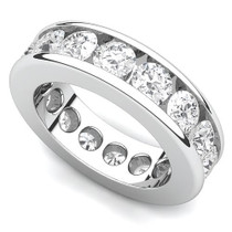 Channel Set Diamond Curved Edge Eternity Ring (4 ct.)