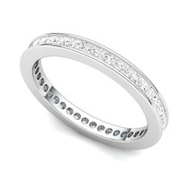 Channel Set Princess Diamond Curved Edge Eternity Ring (1 ct.)